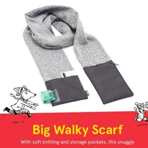 NWOT Big Walky Bark Dog Walk Scarf gray black